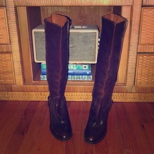 Vintage JCrew High Heeled Leather Boots